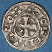 Billon denier of Count Hervé III de Donzy (1160-94)