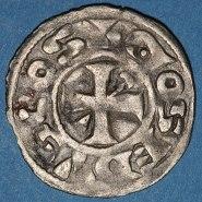 Billon denier of Count Hervé III de Donzy (1160-94)