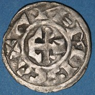 Silver denier of Count Hervé III de Donzy (1160-94)