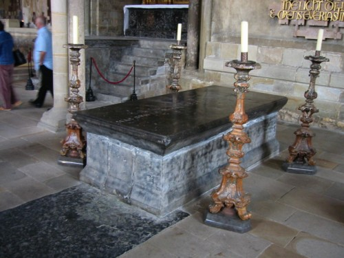 The tomb of St Bede the Venerable in Durham Cathedral