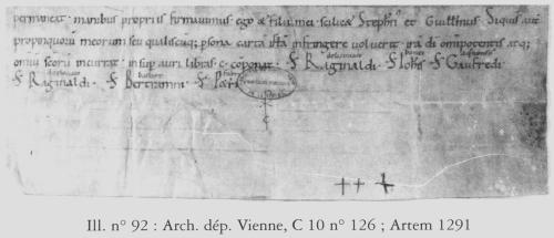 Portion of a donation of vineyards to St-Junien de Nouaillé of 1091