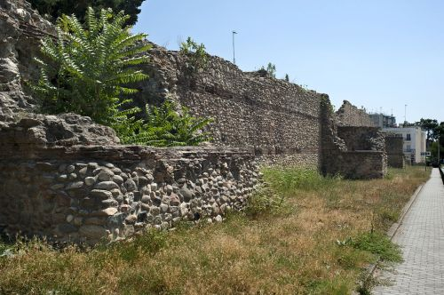 Walls of the Byzantine fortress at Komotini, Thrace, now in modern Greece