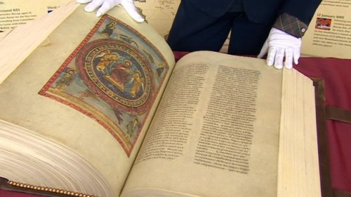 Full-size replica of the Codex Amiatinus