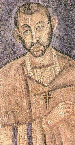Mosiac portrait of Saint Ambrose of Milan
