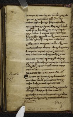 London, British Library, MS Cotton Nero a.I, fo. 88v.