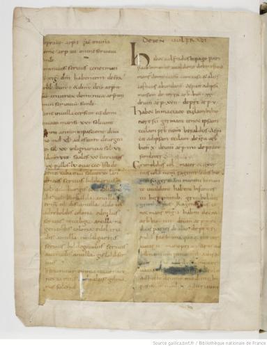 Polyptych of the Paris monastery of Saint-Germain-des-Prés, Paris, Bibliothèque National de France, MS Latin 12832