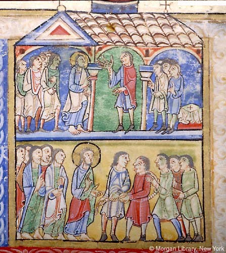 Twelfth-century depiction of Christ performing miraculous cures
