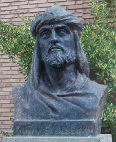 Modern bust of Mūsā ibn Mūsā in Tudela