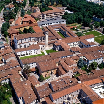 Santia Giulia di Brescia from the air