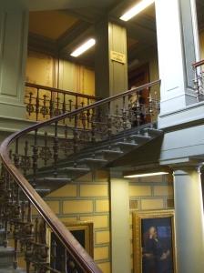 Stairway into the Biblothèque de l'Université de Genève