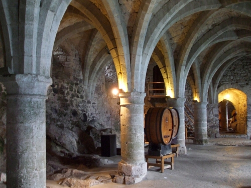 The prison chamber of the Château de Chillon