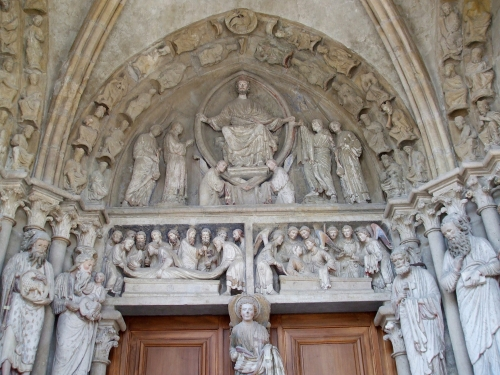 Tympanum of side-chapel at Notre-Dame de Lausanne