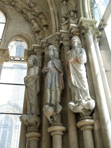 Fathers of the Church sculpted in a chapel of Notre-Dame de Lausanne