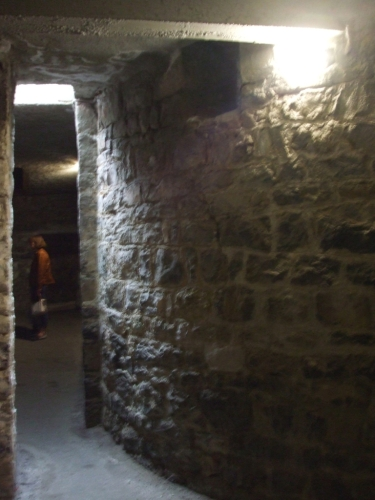 Subterranean exterior of the Chapelle de Saint-Pantaléon, Château de Chillon