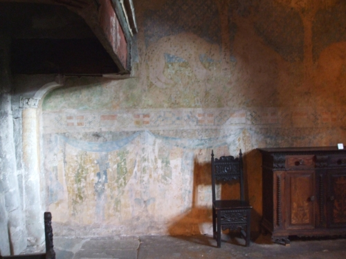 Wall-painting in a bedroom of the Château de Chillon