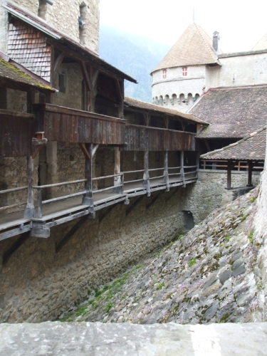 Gallery walk in the upper part of the Château de Chillon