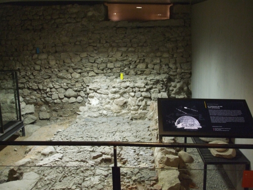Remains of a threshing floor belonging to the southern cathedral in the complex beneath saint-Pierre de Genève