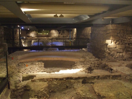 Excavated remnants of a sequence of baptisteries beneath Saint-Pierre de Genève