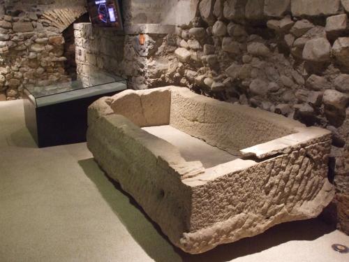 Sarcophagus in the archæological site of Saint-Pierre de Genève