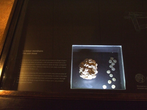 Roman bronze coin hoard found in the excavations at Saint-Pierre de Genève