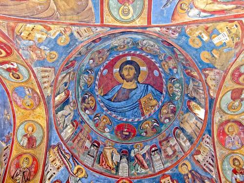 Dome of the church of the virgin of Arakas, Lagoudera, Cyprus