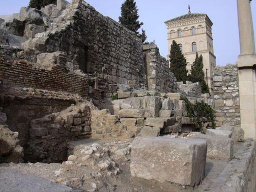 Roman walls at Saragossa