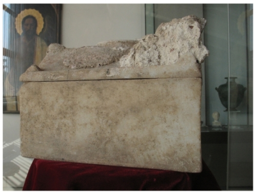 Reliquary box which contained supposed relics of St John the Baptist, found at Sveti Ivan