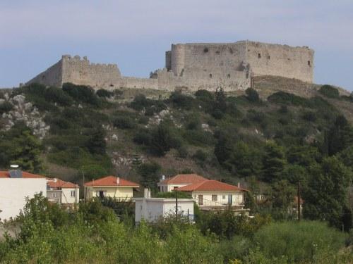 The Frankish castle of Chlemoutsi, in Morea