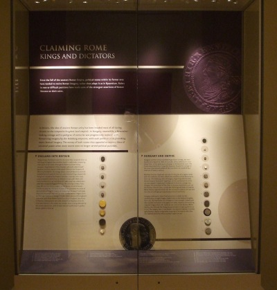 The English and Hungarian coins in the exhibition Inheriting Rome