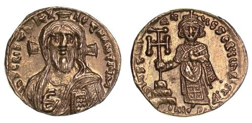 Gold solidus of Emperor Justinian II struck at Constantinople in 692-695, Barber Institute of Fine Arts B4381