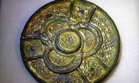 A Celtic disc brooch looted by Vikings and now in the British Museum