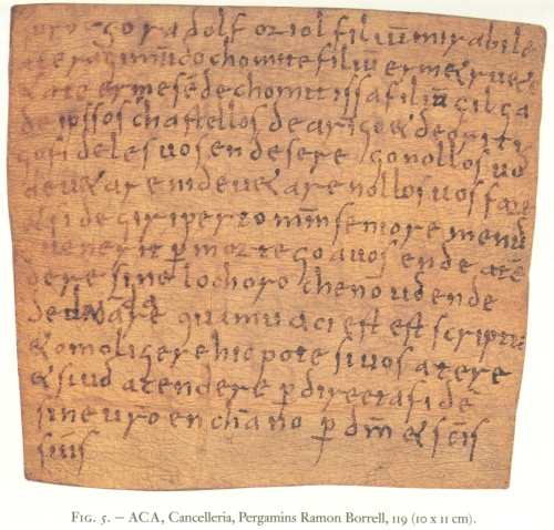 Arxiu de la Corona de Aragón, Cancilleria, pergamins Ramon Borrell, carpeta 6, número 119