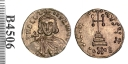 Gold solidus of Emperor Leo III, struck at Constantinople between 717 and 720, Barber Institute of Fine Arts B4506
