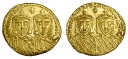 Gold solidus of Emperor Constantine VI and Empress Eirini, struck between 780 and 797, Barber Institute of Fine Arts B4584