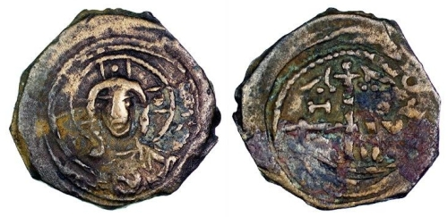 Bronze follis of Tancred, Regent of Antioch, struck in Antioch between 1104 and 1112, Barber Institute of Fine Arts CR002