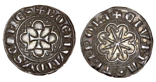 Silver gros of Count Bohemond VI of Antioch and Tripoli, struck in Tripoli between 1251 and 1275, Barber Institute of Fine Arts CR013