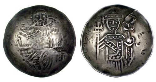 Electrum besant of King Henry I of Cyprus, struck in Cyprus between 1218 and 1253, Barber Institute of Fine Arts CR052