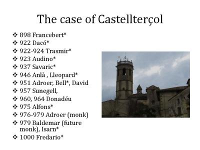 The observable sequence of priests at the church of Castellterç. Sant Fruitós de Bages