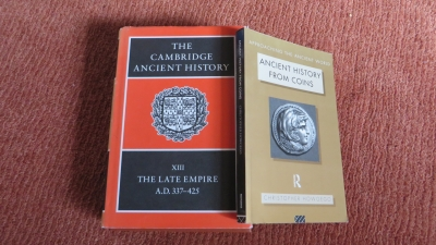 Ann Johnston's copies of the Cambridge Ancient History XIII and Chris Howgego's Ancient History from Coins