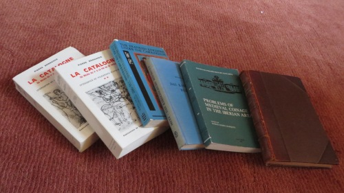 Books I was allowed to inherit from the library of Philip Grierson
