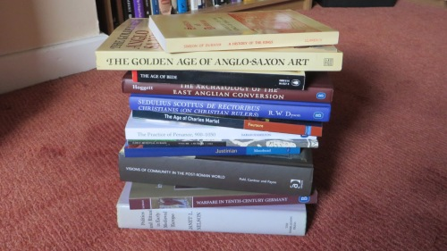 Books I bought at the International Medieval Congress, Leeds, 2014
