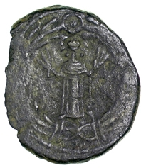 Bronze 21-nummi of King Hilderic of the Vandals, Carthage, 523-30, Barber Institute of Fine Arts VV066