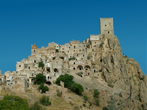 The ghost town of Craco, Italy