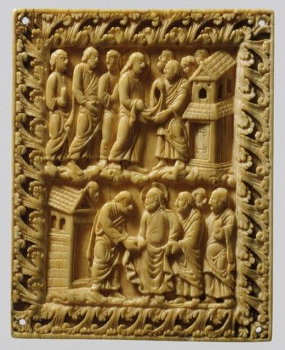 """Two Scenes of Christ and Apostles [Carolingian (northern France)]"" (2000.486) In Heilbrunn Timeline of Art History . New York: The Metropolitan Museum of Art, 2000–. http://www.metmuseum.org/toah/works-of-art/2000.486. (October 2008)"