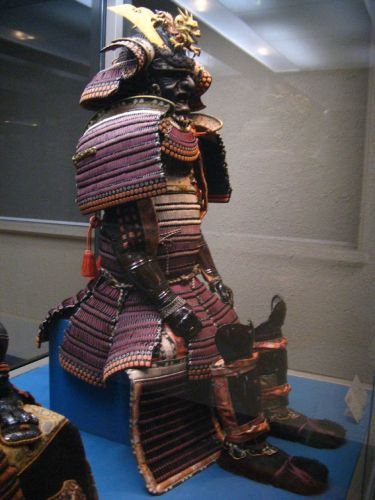 A suit of hon kozane dou gusoku Samurai armour in the Tokyo National Museum