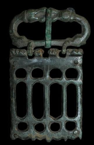 Late Roman fourth-century military belt buckle