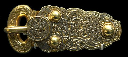 The Sutton Hoo belt buckle now in the British Museum