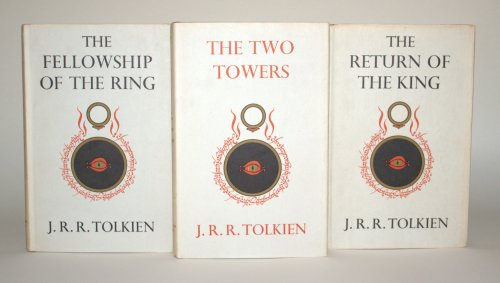 Covers of the first edition of J. R. R. Tolkien's The Lord of the Rings