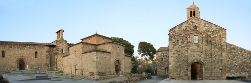 Panoramic view of the three churches of Egara at Terrassa.