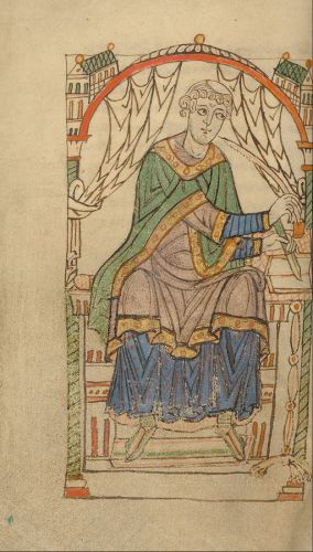 Scribal portrait from Los Angeles, J. Paul Getty Museum, MS Ludwig XI 6, fol. 44v
